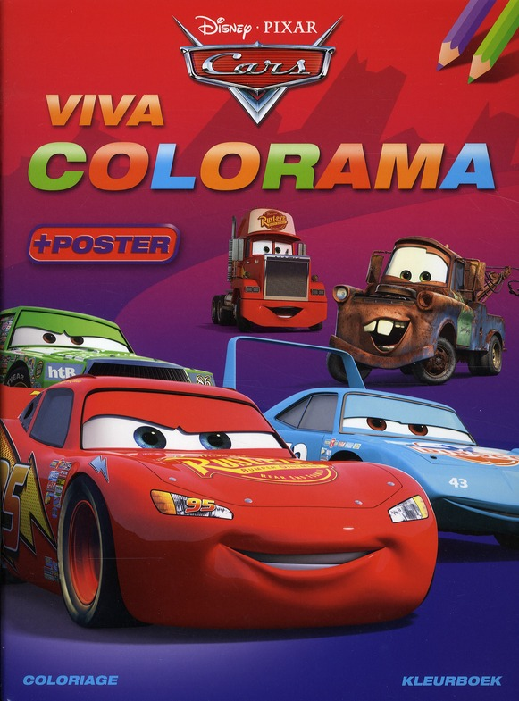 Disney Viva Colorama Cars (Avec Poster)
