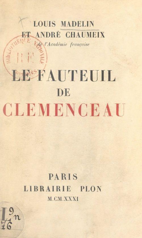 Le fauteuil de Clemenceau