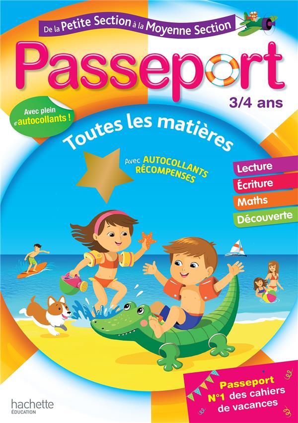 Passeport ; de la PS à la MS ; 3/4 ans