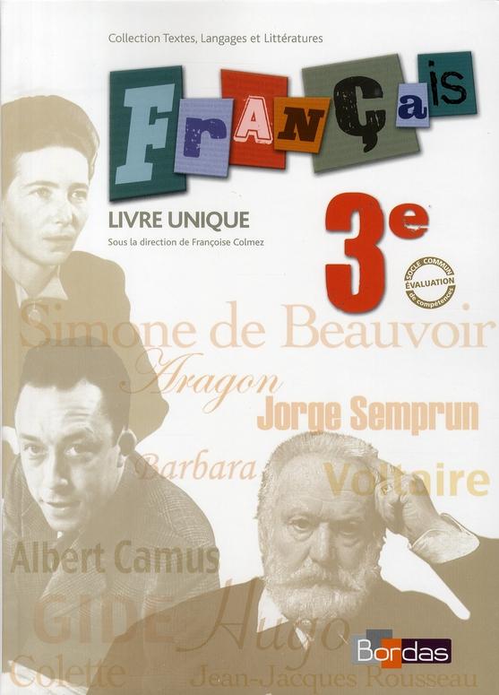 Francais 3e Livre Unique Manuel 2008