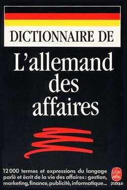 Dictionnaire de l'allemand des affaires