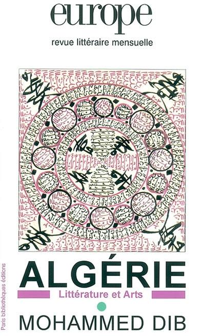 Revue europe ; algerie : litterature et arts ; mohammed dib