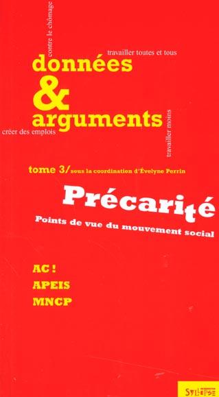 Precarite ; points de vue du mouvement social