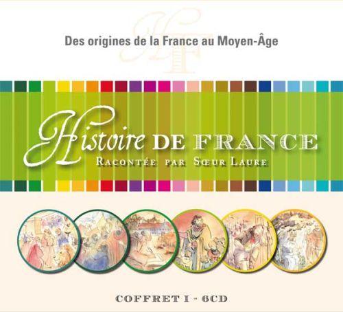 Cd hist.de france: vol.1*des origines de la france au moyen-age, coffret 6 cd