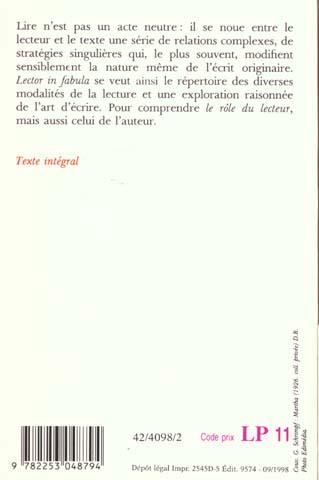 Lector in fabula ; le rôle du lecteur