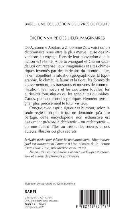 Dictionnaire des lieux imaginaires