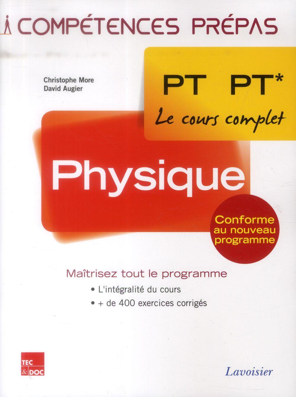 COMPETENCES PREPAS ; physique ; 2e année PT PT