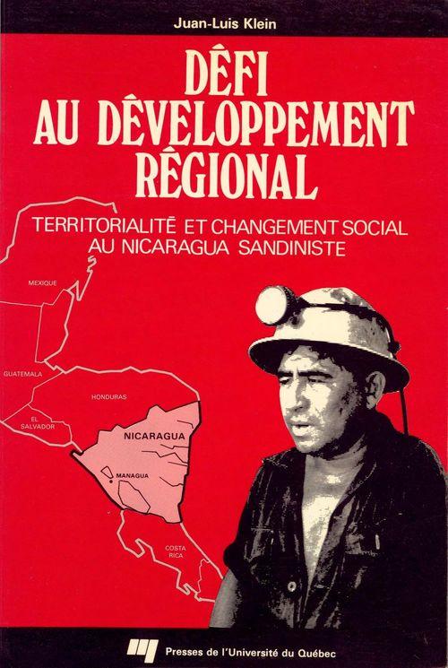 Défi au développement régional ; territorialité et changement social au Nicaragua sandiniste