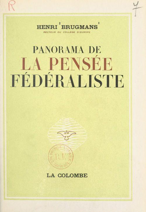 Panorama de la pensée fédéraliste