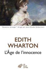 Vente Livre Numérique : L´Âge de l´innocence  - Edith Wharton