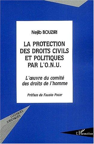 La protection des droits civils et politiques par l'onu ; l'oeuvre du comite des droits de l'homme