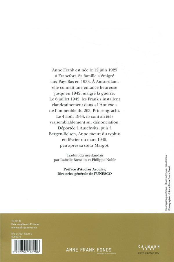 Journal Anne Frank (édition 2019)
