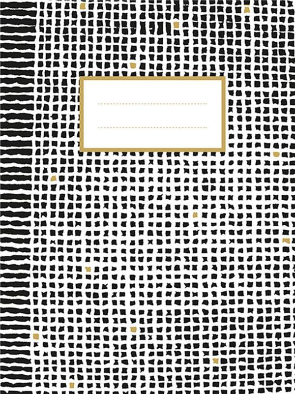 Noir-blanc-or cahier (quadrillé)