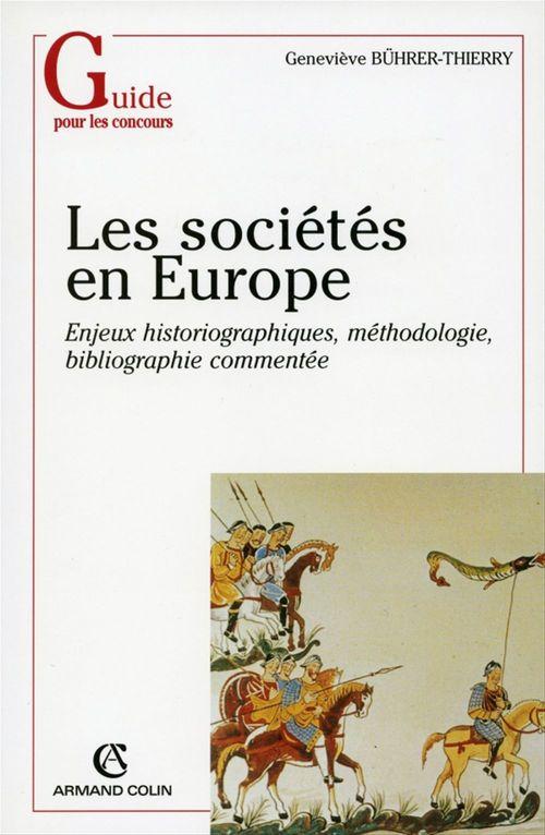 Les sociétés en Europe  - Geneviève Bührer-Thierry