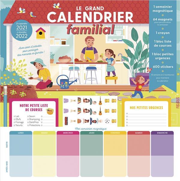 Le grand calendrier familial (édition 2021/2022)