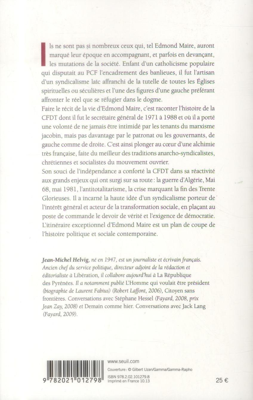 Edmond Maire ; une histoire de la CFDT