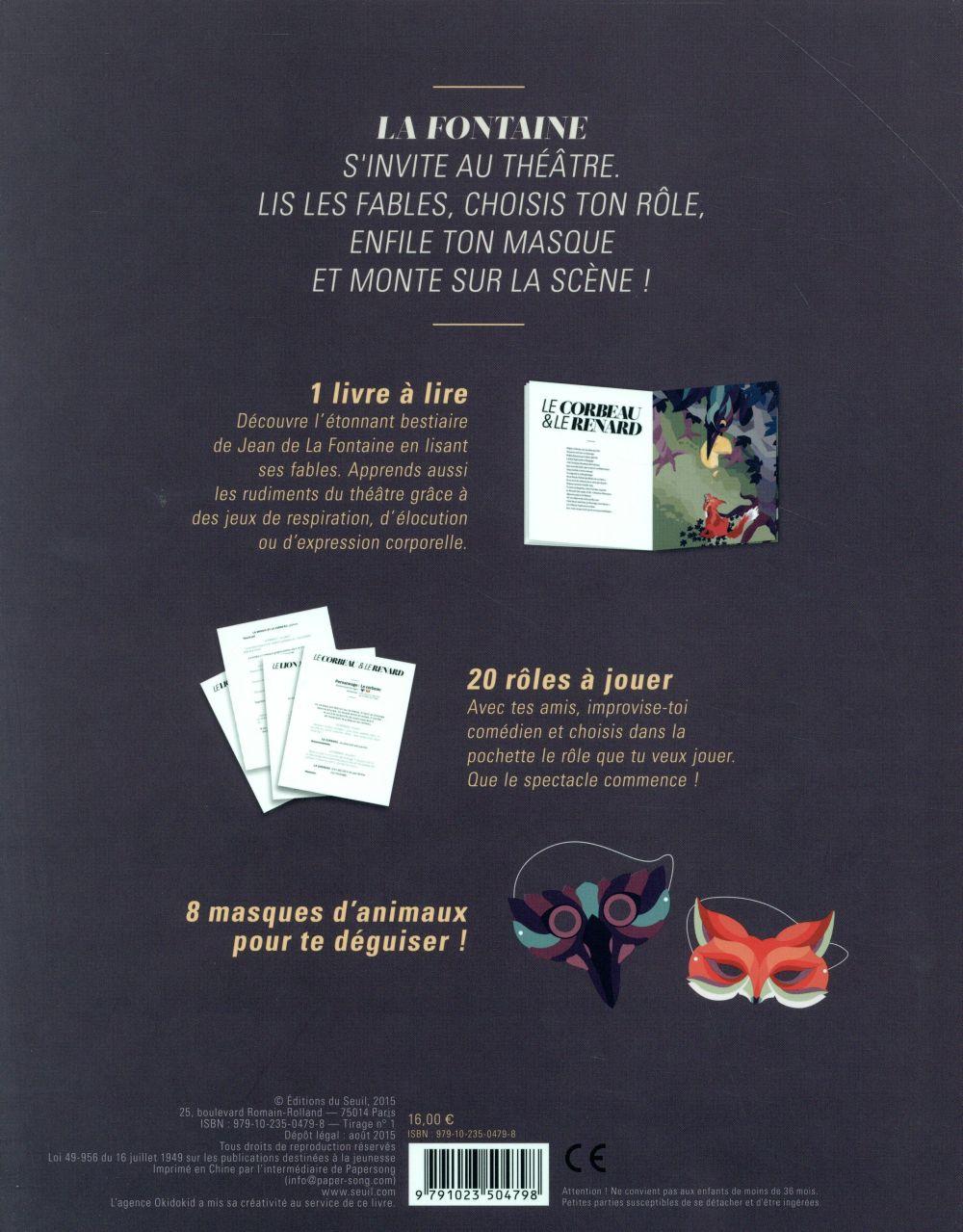 Le petit théâtre de La Fontaine ; 8 fables à jouer masqués