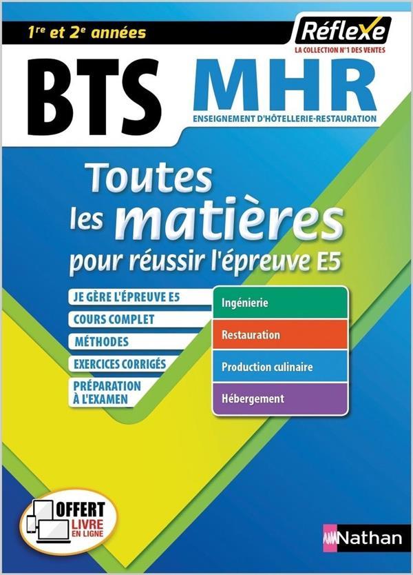 BTS MHR ; toutes les matières ; 1re et 2e années (édition 2019)