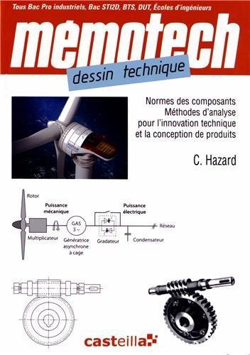 MEMOTECH ; dessin technique ; normes des composants, méthodes d'analyse pour l'innovation technique et la conception de produits