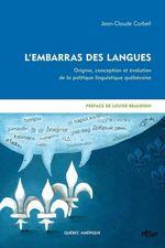 Vente Livre Numérique : L'Embarras des langues  - Jean-Claude Corbeil