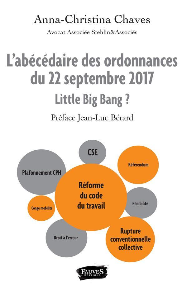 L'abécédaire des ordonnances du 22 septembre 2017 ; little big bang ?