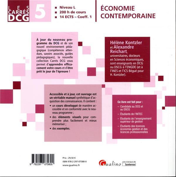 DCG 5 ; économie contemporaine