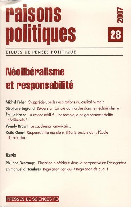 Revue raisons politiques T.28