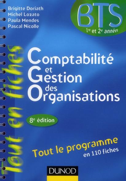 Comptabilité et gestion des organisations ; tout le programme en 110 fiches (8e édition)