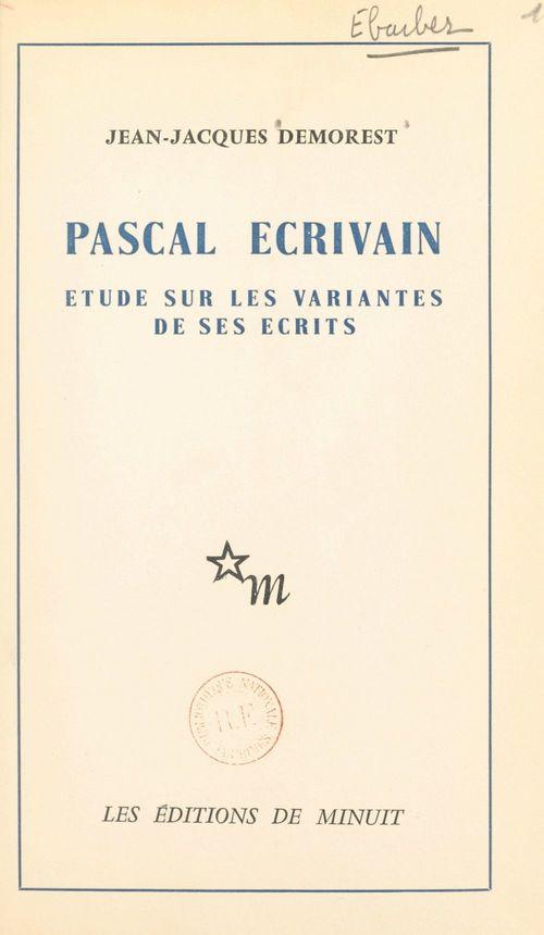 Pascal, écrivain