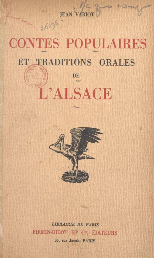 Contes populaires et traditions orales de l'Alsace