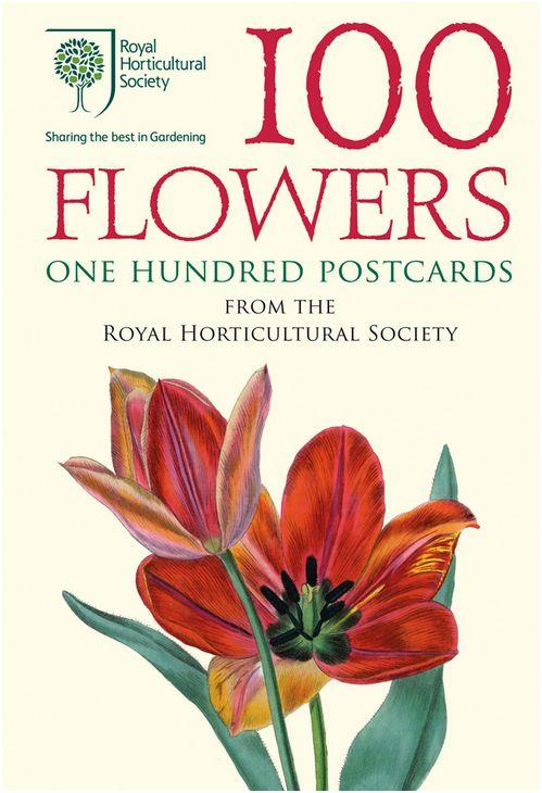 100 FLOWERS, ONE HUNDRED POSTCARDS ANGLAIS