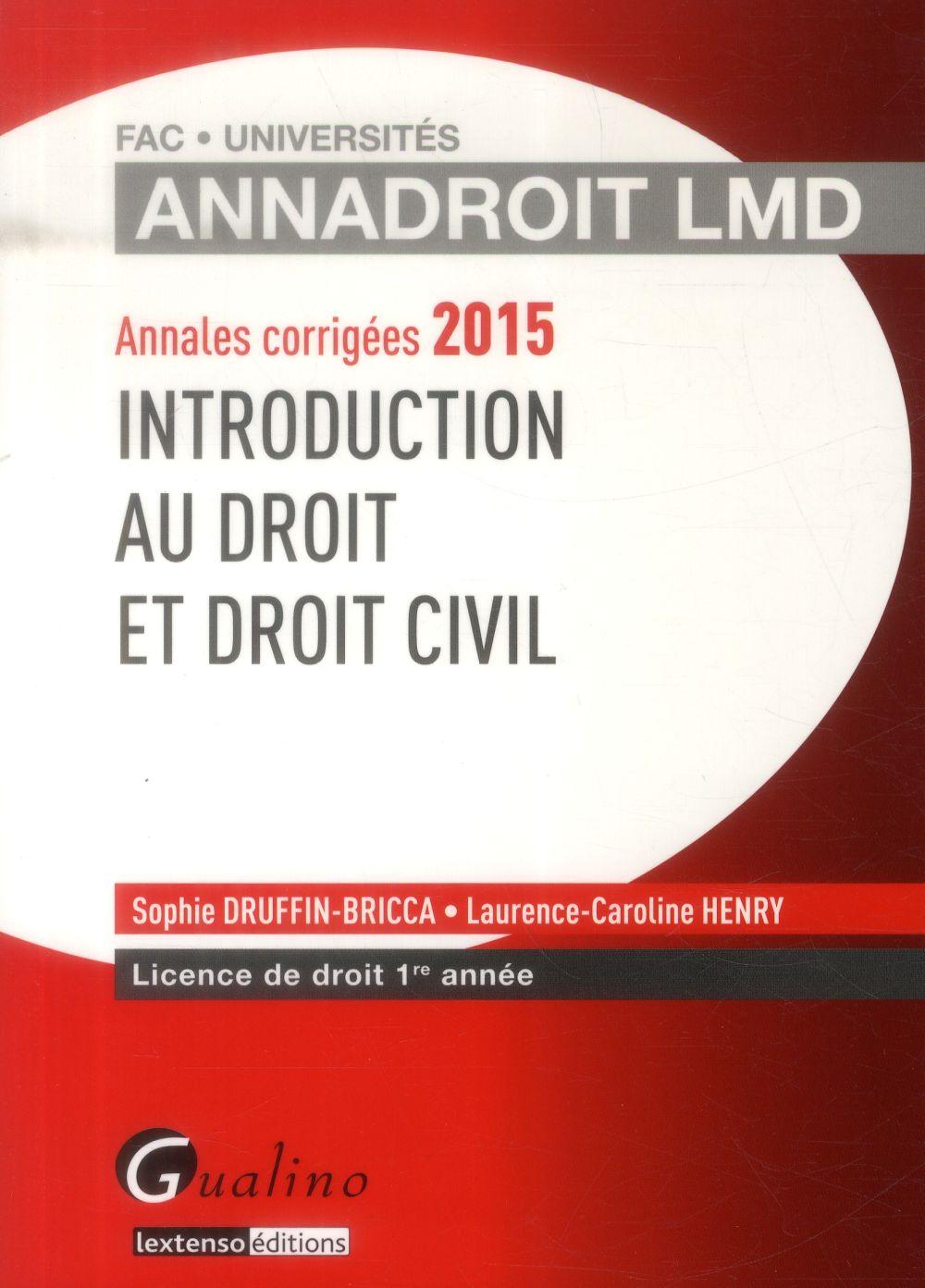 Introduction au droit et droit civil (16e édition)