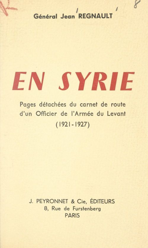 En Syrie  - Jean Regnault