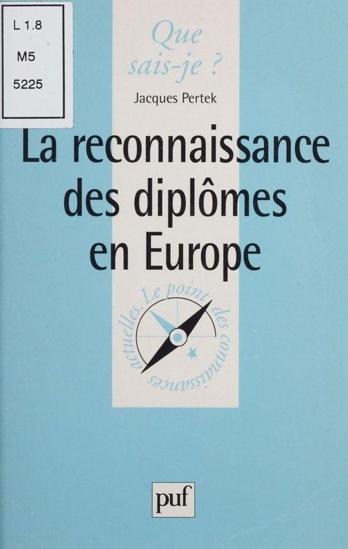 Iad - reconnaissance des diplomes en euro. qsj 3419