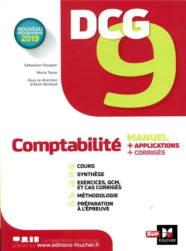 DCG 9 ; comptabilité ; manuel et applications