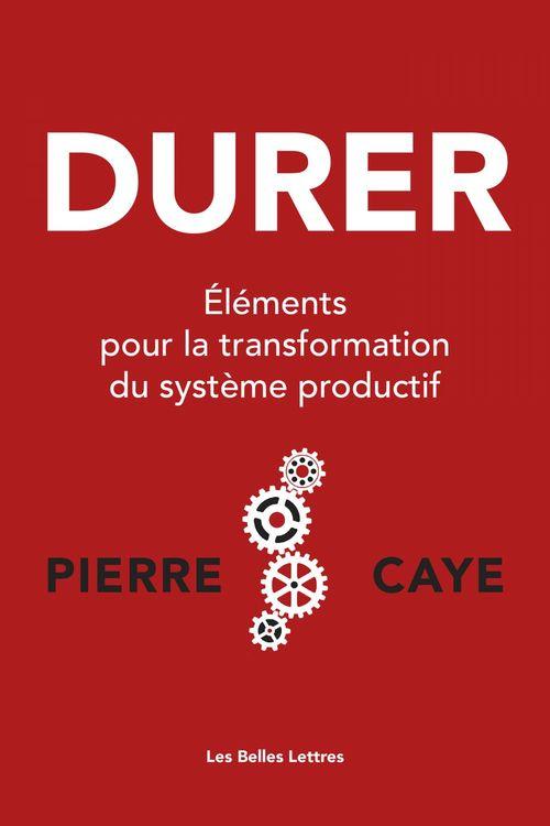 Durer, éléments pour la transformation du système productif