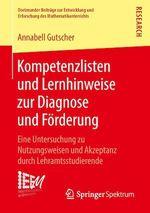Kompetenzlisten und Lernhinweise zur Diagnose und Förderung  - Annabell Gutscher