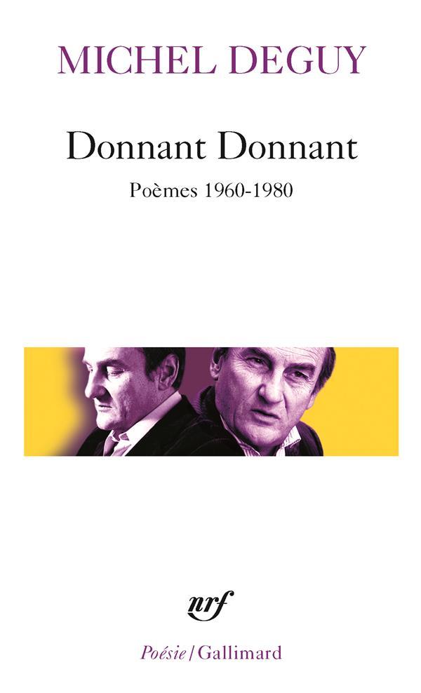 Donnant donnant (poèmes 1960-1980)