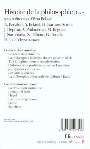 Histoire de la philosophie - vol02 - le siecle des lumieres - la revolution kantienne 2