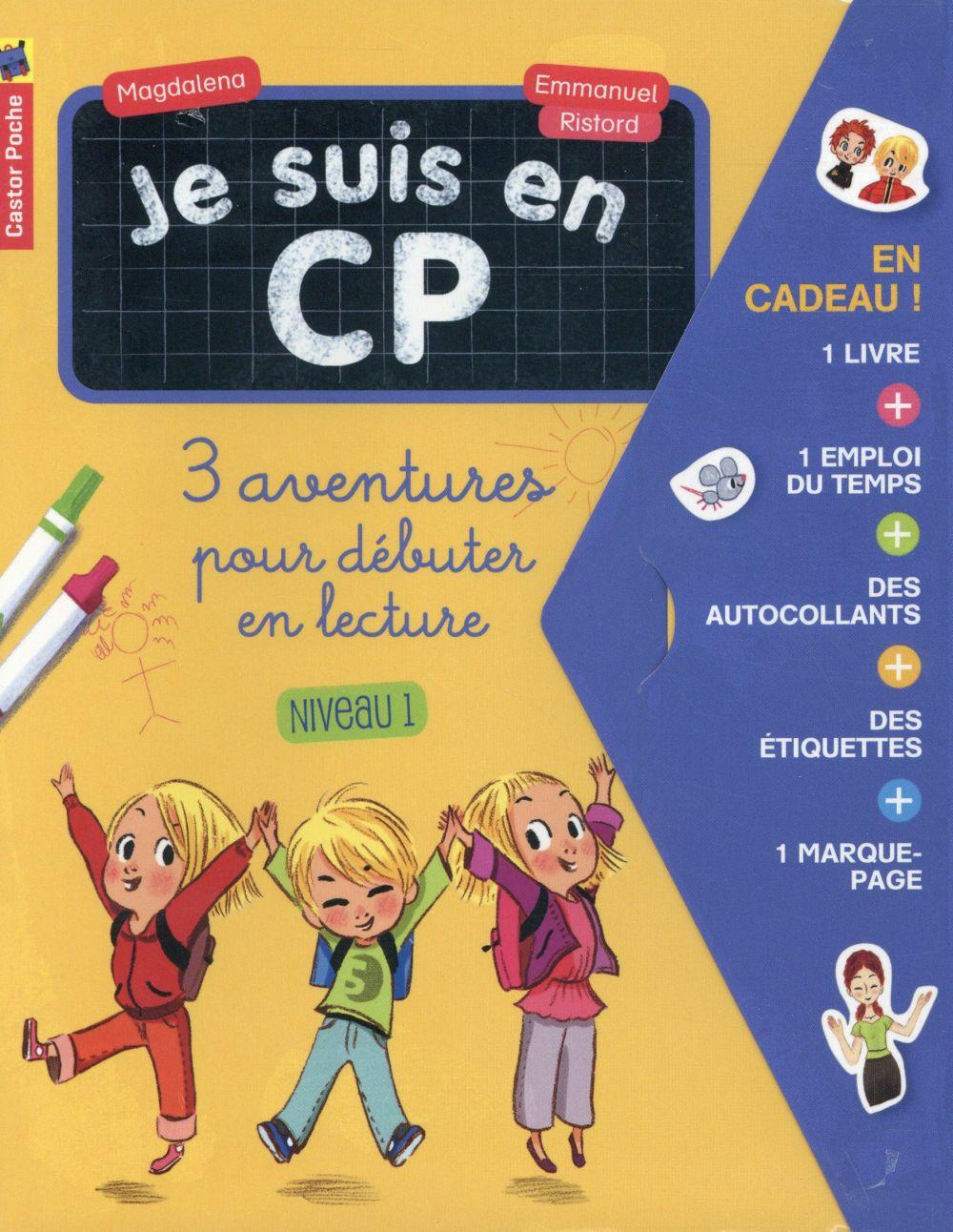 Je suis en CP ; 3 aventures pour débuter en lecture ; niveau 1
