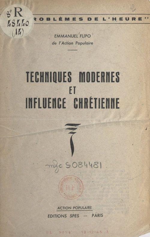 Techniques modernes et influence chrétienne