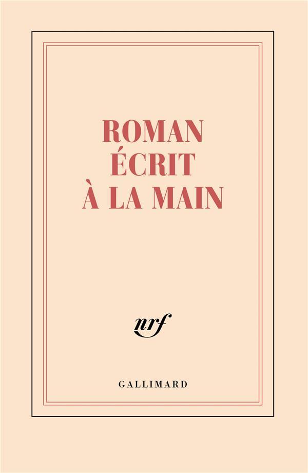 Carnet ligné roman écrit à la main