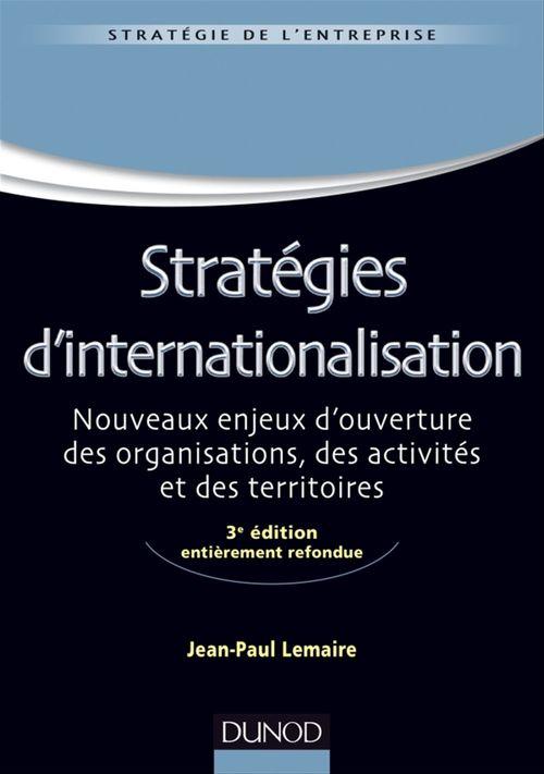 Stratégies d'internationalisation (3e édition)