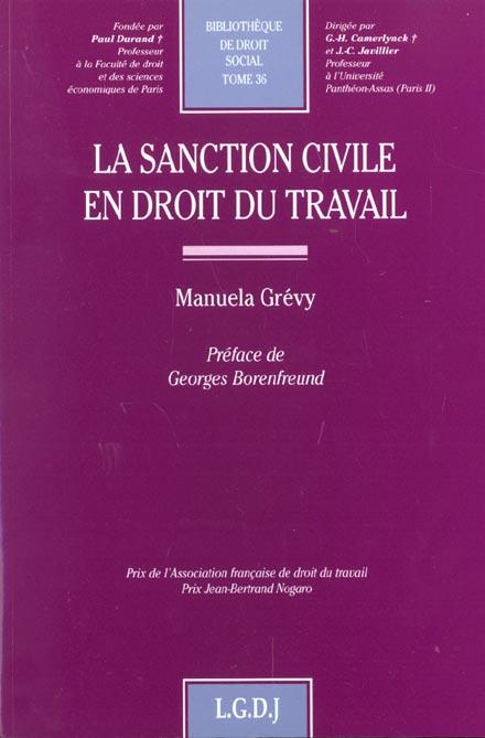 La Sanction Civile En Droit Du Travail