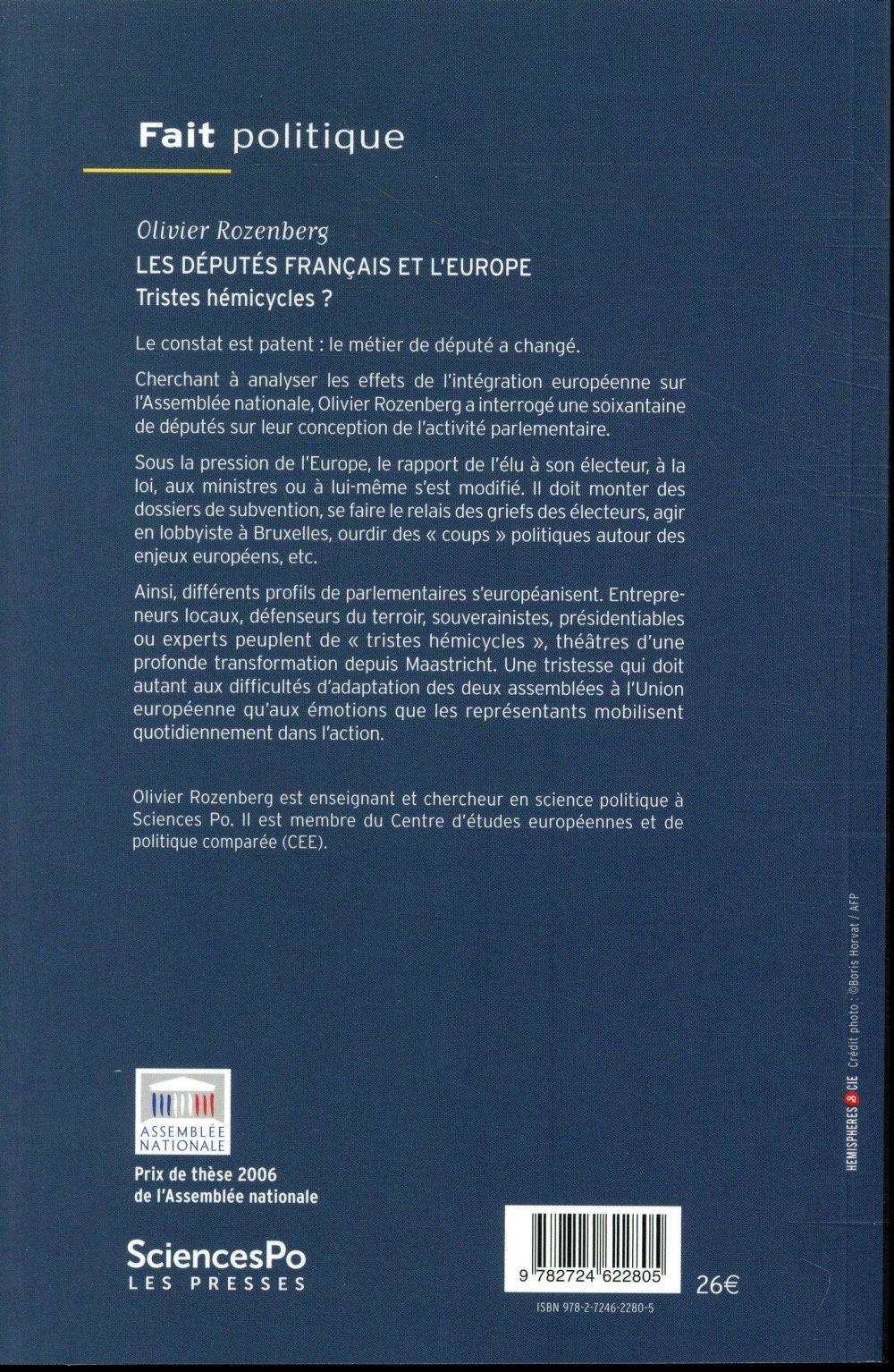 les députés français et l'Europe ; tristes hémicycles ?