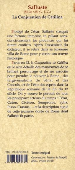 La conjuration de Catilina