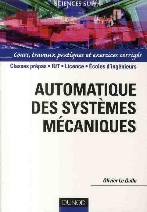 Automatique Des Systemes Mecaniques