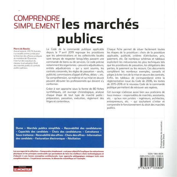 Comprendre simplement ; les marchés publics (3e édition)