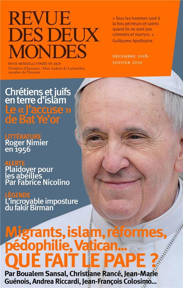 Revue des deux mondes ; le pape : vrai changement ou fausses valeurs ?