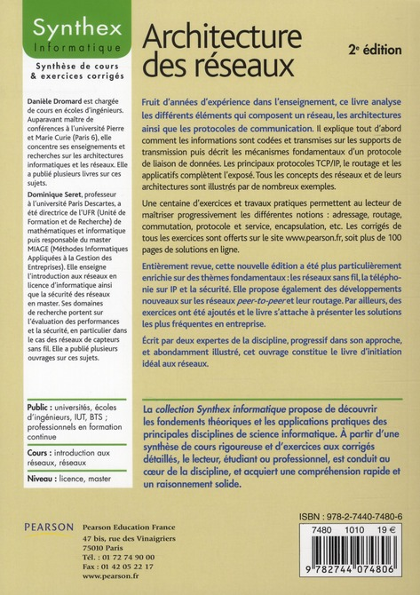 SYNTHEX ; architecture des réseaux (2 édition)